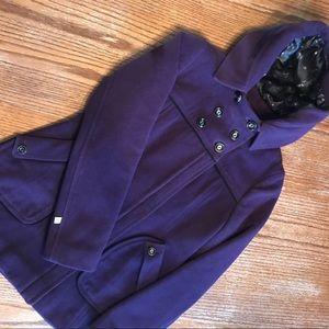 RARE Soia & Kyo purple wool jacket
